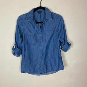 Theory Denim Button Up